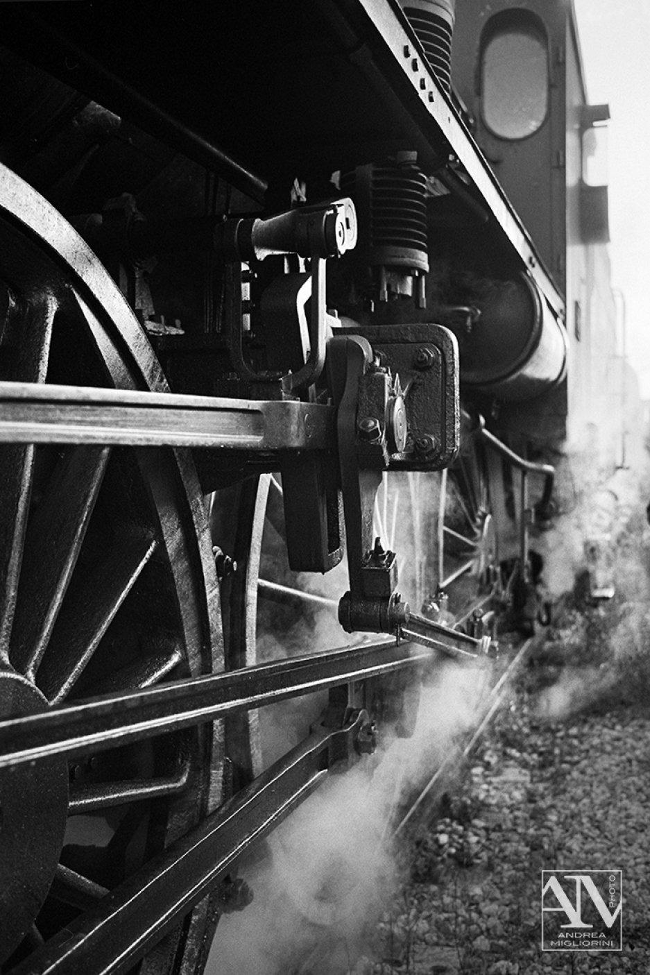 Photo Reportage Locomotiva a Vapore Treno Natura Siena Val D'Orcia